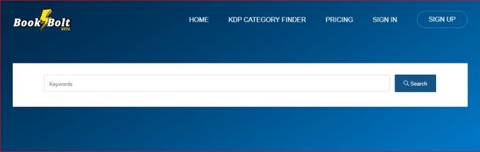 bookbolt category finder main page