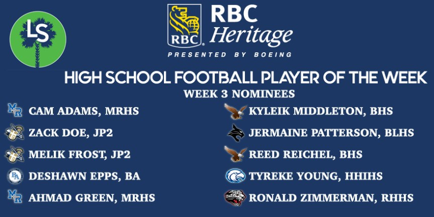 Vote Now! RBC Heritage HSFB Player of the Week – Week 3