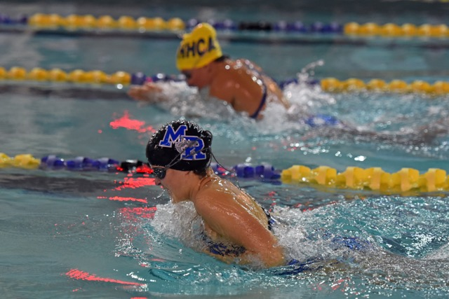 HS Swimming: Seahawk Boys, Shark Girls Top County Foes