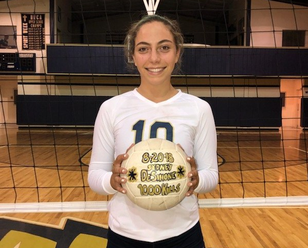 HS Volleyball: DeSimone Hits 1K Kills As HHCA Splits