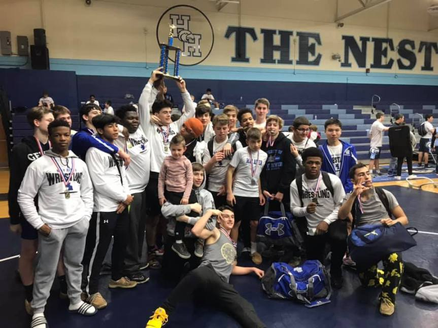 HS Wrestling: Sharks Edge Eagles For County Title