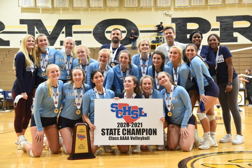 HSVB: Seahawks douse Blue Flame for first 4A state title