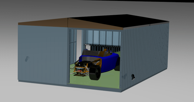The Cad drawing of the workshop