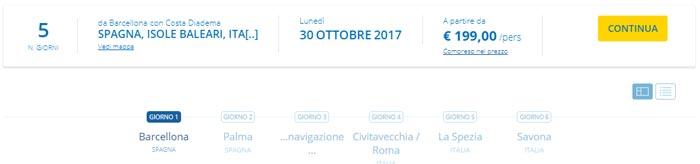 5-денний круїз за 199 євро