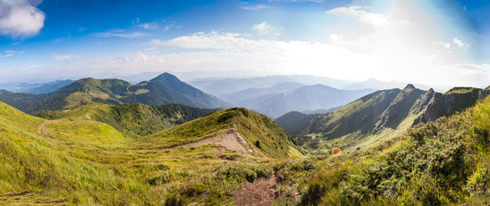Панорама з гори Прелука