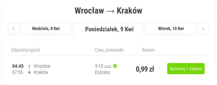 Бронювання квитків Вроцлав - Краків на сайті FlixBus
