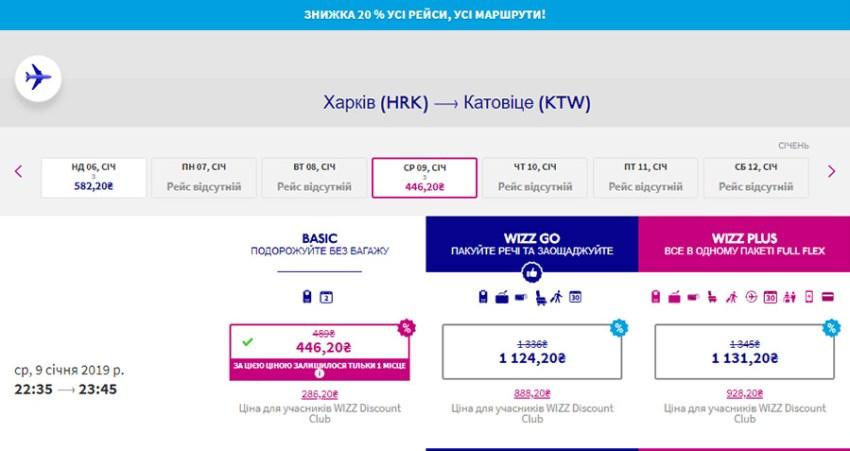 Авіаквитки із Харкова в Катовіце зі знижкою 20%