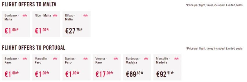 Дешеві перельоти на Мальту та в Португалію: