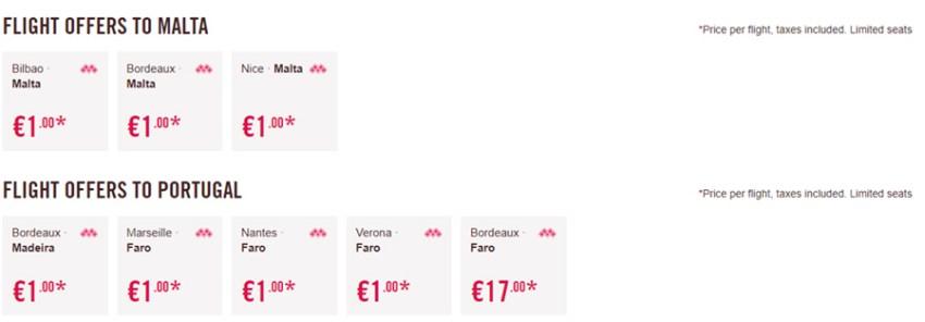 Лоукост авіаквитки на Мальту та в Португалію: