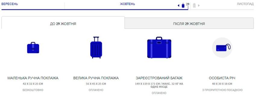 Правила провозу багажу Wizz Air які діють до 29 жовтня
