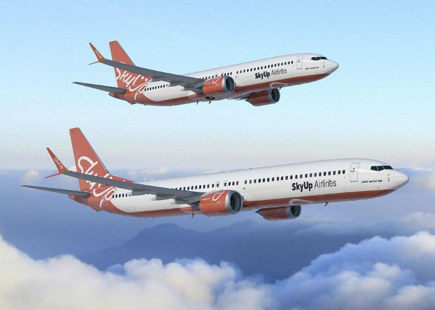 SkyUp Aeros ліврея Boeing 737 MAX