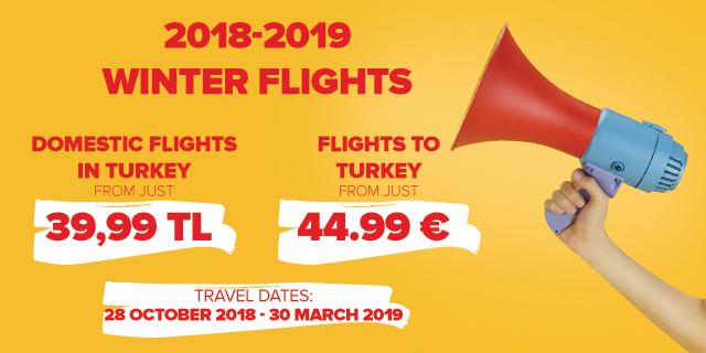 Pegasus Airlines autumn-winter sale
