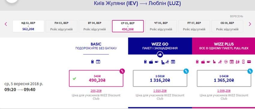 Переліт із Києва в Люблін зі знижкою 20%: