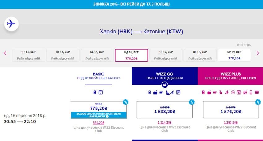 Переліт із Харків - Катовіце