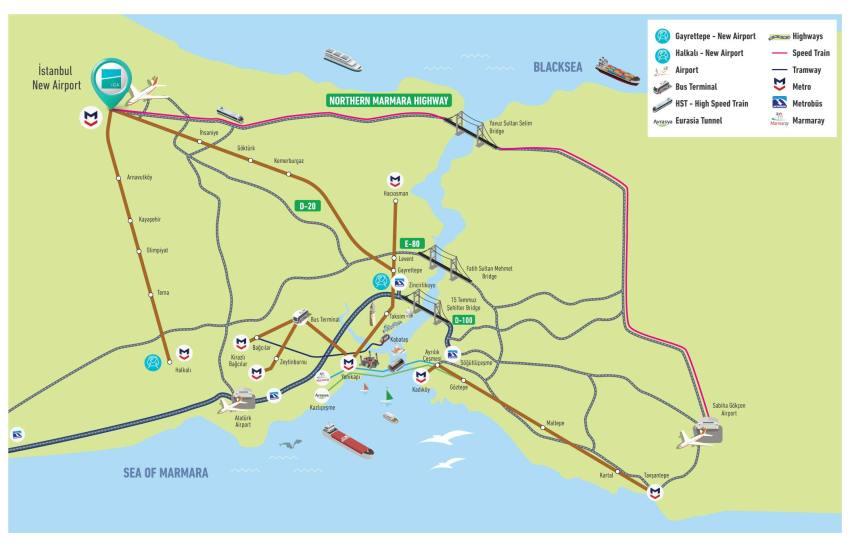 Транспорт до нового аеропорту (натисніть для збільшення)
