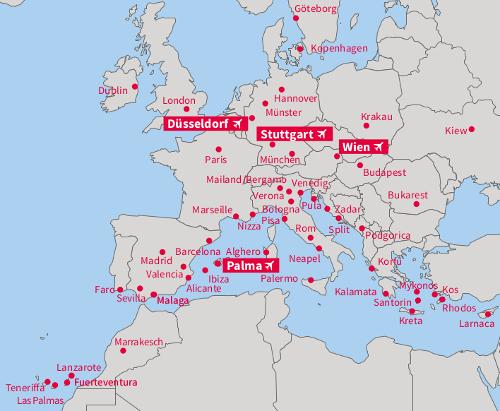 Карта напрямків Laudamotion