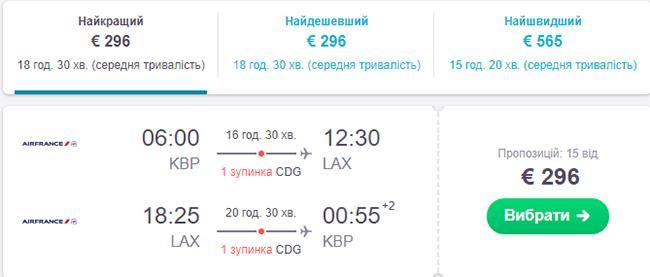 """Дешеві авіаквитки із Києва в Лос-Анджелес """"туди-назад"""" в травні"""