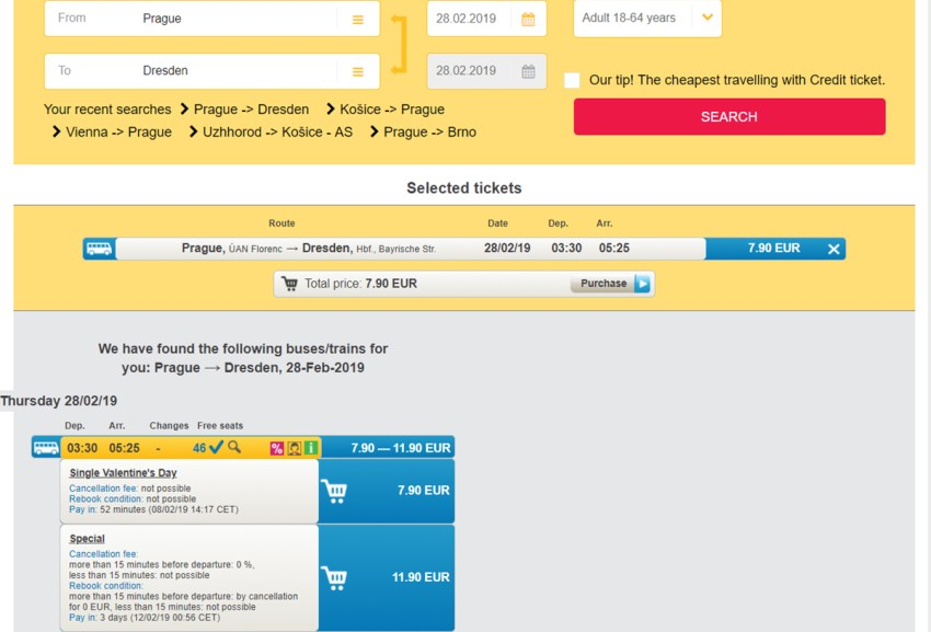 Акційні квитки Прага - Дрезден