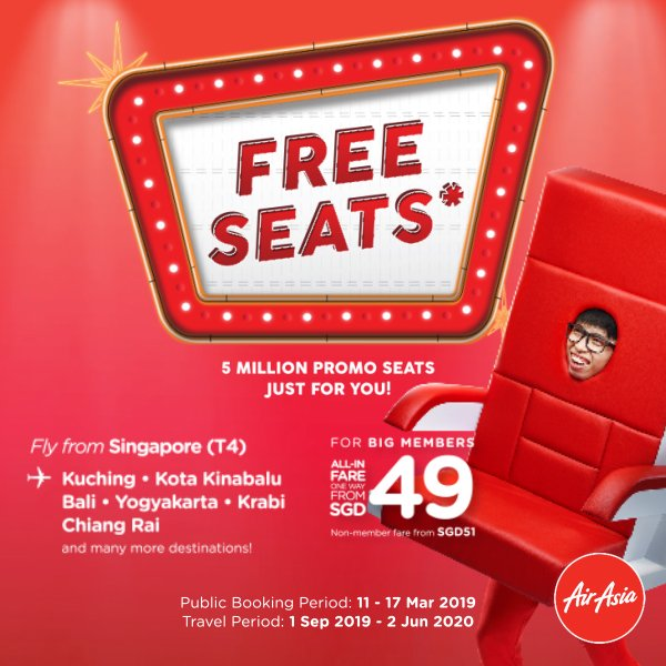 Air Asia Free Seats Sale