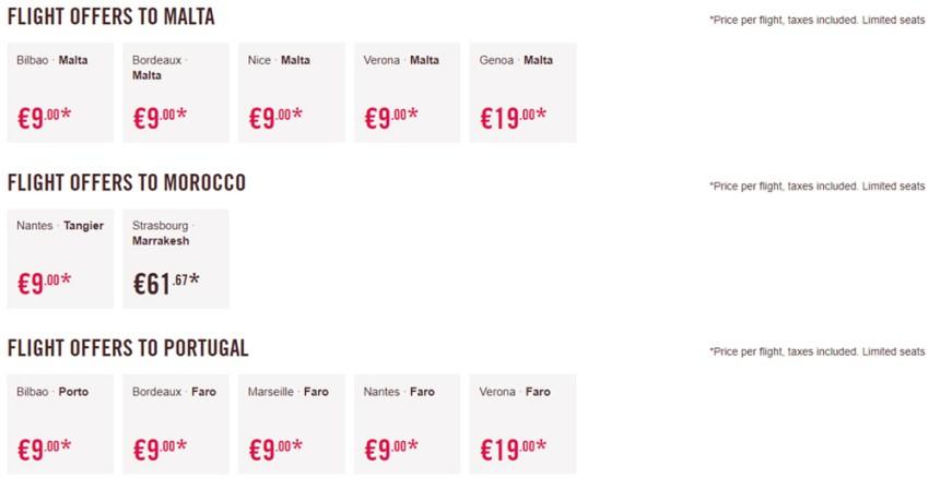 Дешеві авіаквитки в Марокко, Португалію та на Мальту