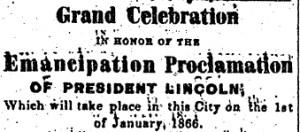 Grand Celebration South Carolina Leader 16 Dec 1865detail