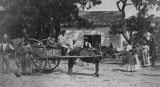 African Americans at the James Hopkinson Plantation, Edisto Island, SC, 1862