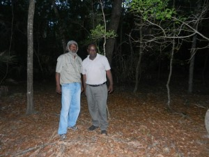 Hanif Haynes and Joseph McGill at Burial Ground of Enslaved