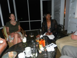 Sarah Ross Treated Guests to Dinner of Lowcountry Boil