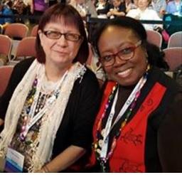 Toni Carrier and Angela Walton Raji, RootsTech 2017