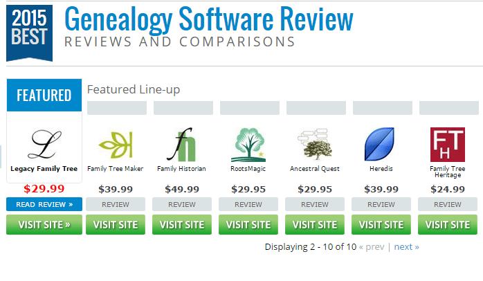 The Best Genealogy Software of 2015 Top Ten Reviews