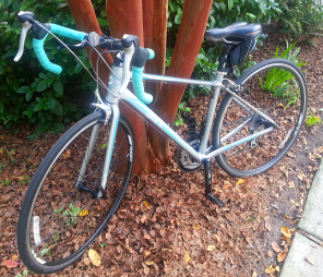 Did you know that road bikes do not have kick stands?