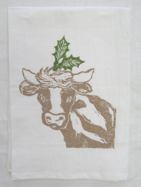 Cow Holly towel