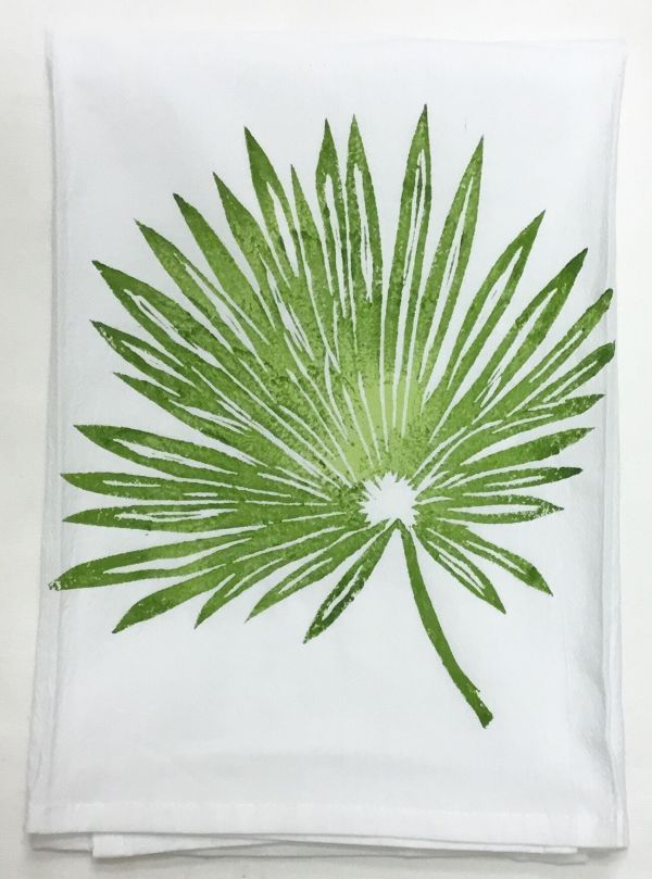 Palm frond towel