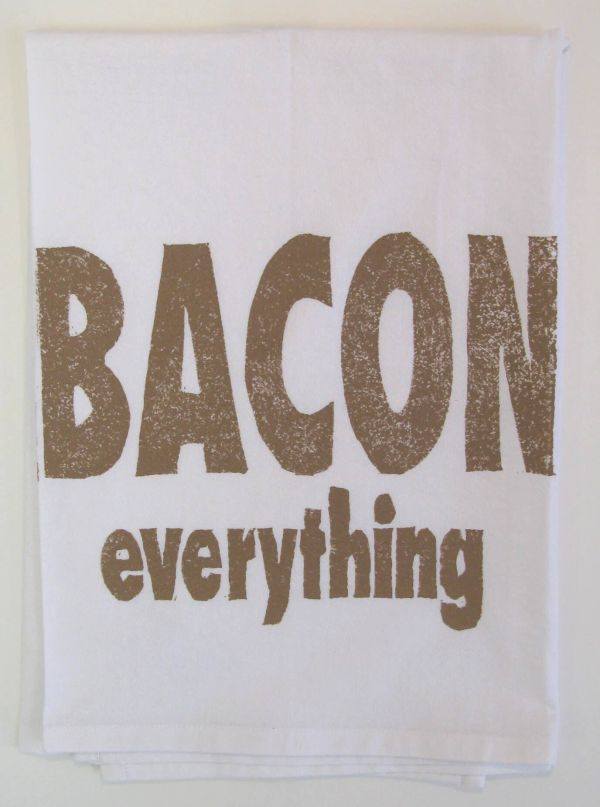 bacon everything towel