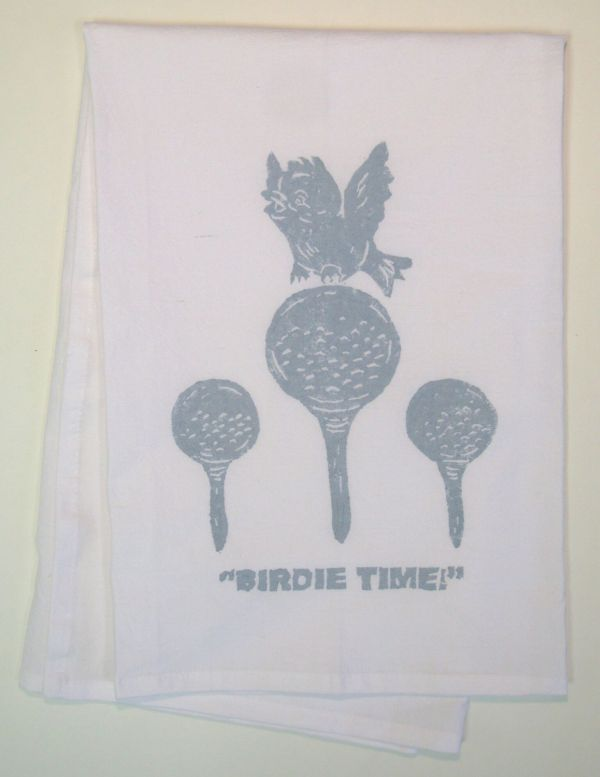 birdie time towel