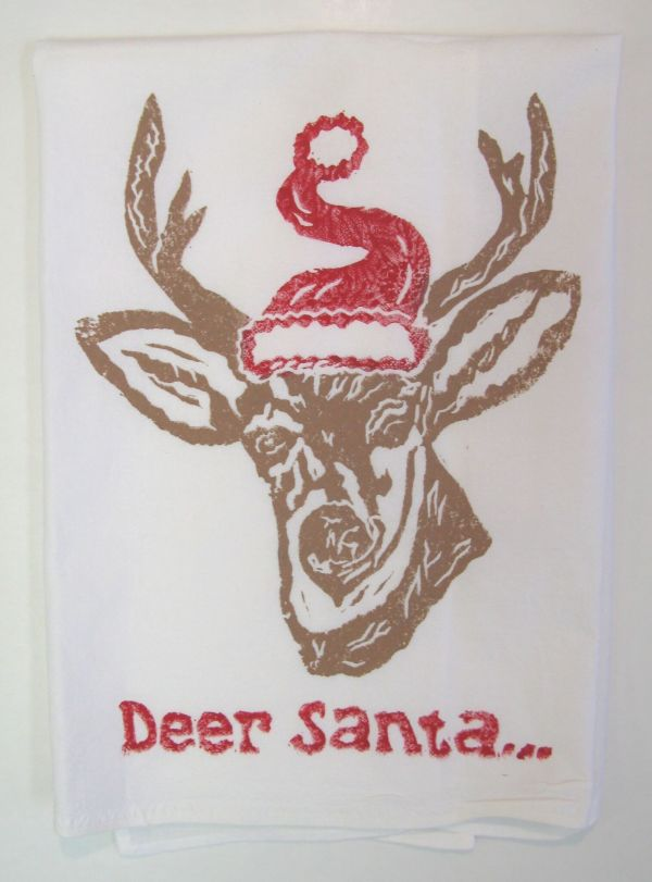 deer santa saddle towel