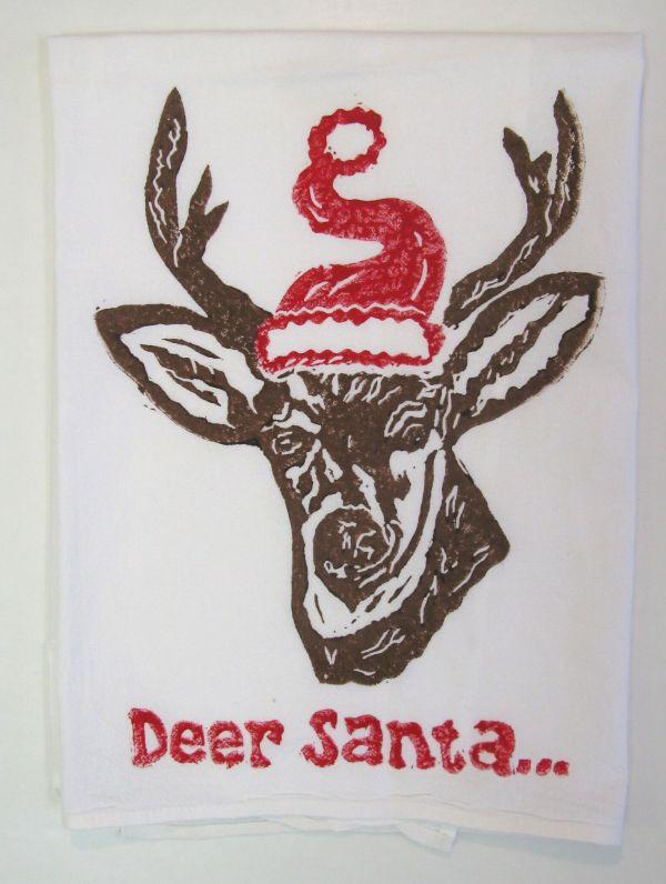 deer santa towel