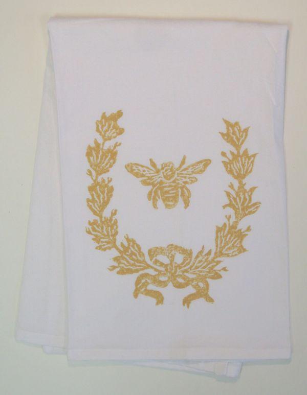 french wreath towel