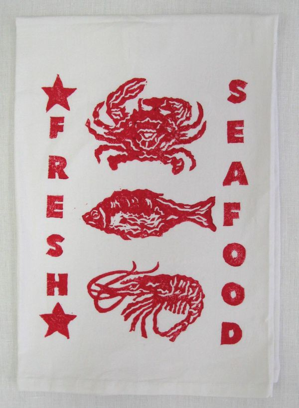 fresh seafood towel