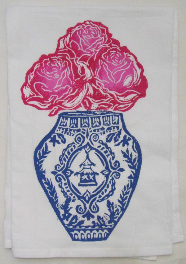 ginger jar rose towel
