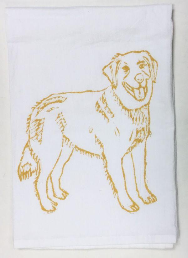 golden retriever towel