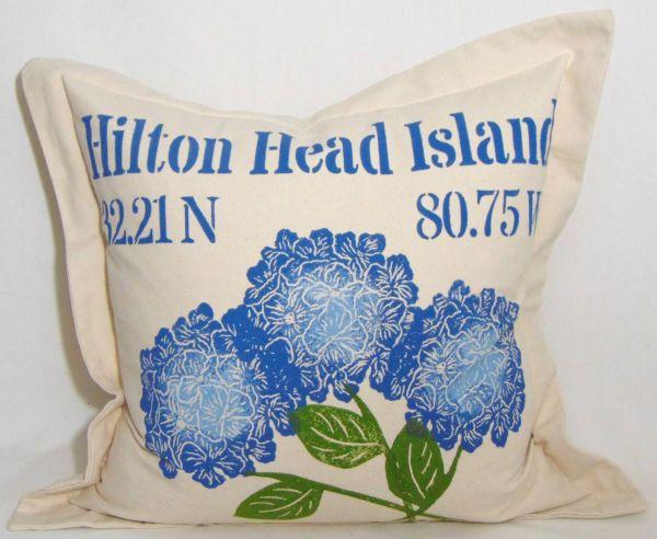 hydrangeas pillow