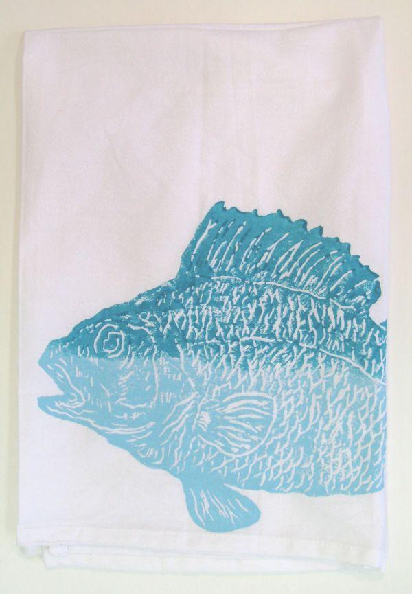 large fish towel