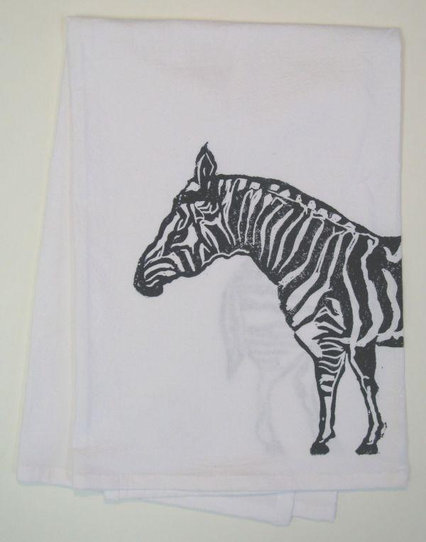large zebra towel