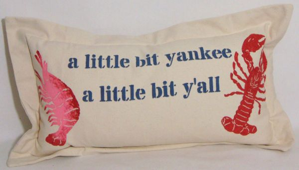 little bit yankee pillow