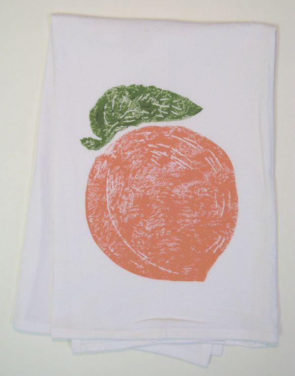 peach towel