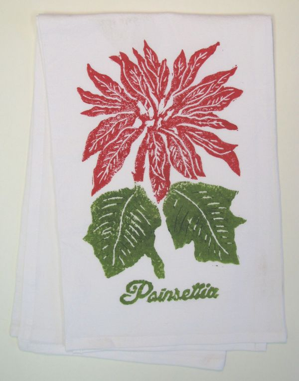 poinsetta towel