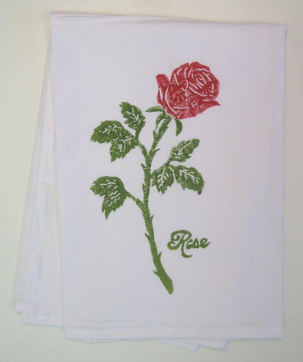 rose towel