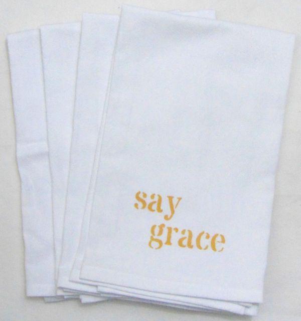 say grace napkin
