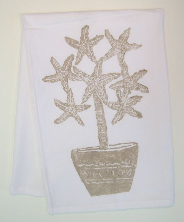 starfish topiary towel